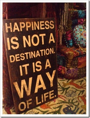Happiness is not a destination. It is a way of life