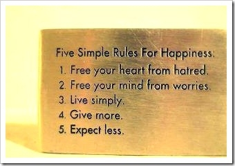 Five-simple-rules for happiness